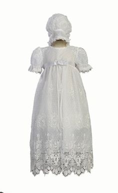 White Embroidered Tulle Lace Christening Baptism Gown - Size S (3-6 M) Swea Pea & Lilli,http://www.amazon.com/dp/B00303CYBC/ref=cm_sw_r_pi_dp_Ft8csb06749GVZ25