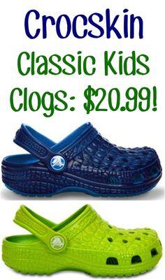 f7bb11a07d0307 Crocskin Classic Kids Clogs  20.99!  crocs  shoes
