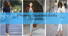 stunning-casual-work-outfits-for-women-feature Casual Work Outfits, Work Casual, Pretty Designs, Simple Designs, Simple Colors, Simple Style, Young Work Outfit, Cropped Blazer, Winter Jackets Women