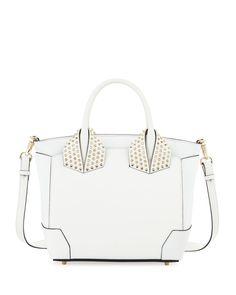 Christian Louboutin Eloise Large Leather Tote Bag, White