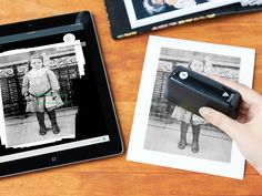 Swipe this scanner over pics, recipes, kids' artwork, parts of a page—and a high-res image appears on your phone or tablet. You can even edit or translate text.