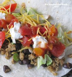 Hot Eats and Cool Reads: Homemade Ground Chicken Taco Meat Recipe