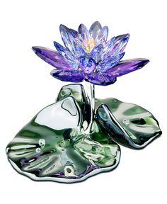 Swarovski Collectible Figurine, Blue Violet Waterlily - Collectible Figurines - for the home - Macy's