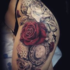 41 Ideas tattoo thigh tat black for 2019 Trendy Tattoos, Sexy Tattoos, Unique Tattoos, Beautiful Tattoos, Body Art Tattoos, Girl Tattoos, Tattoos For Guys, Tattoos For Women, Sleeve Tattoos