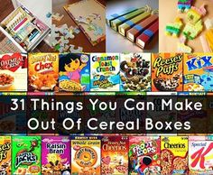 Recipes, Projects & More - 31 Things You Can Make Out Of Cereal Boxes