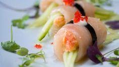 Rauwe zeebaars met asperges