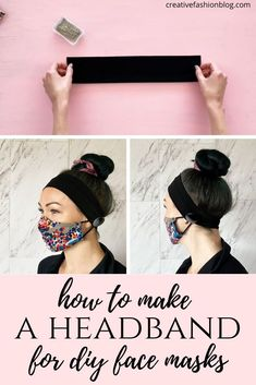 Whether you are making a no-sew face mask or a sewn mask, homemade face masks can start to pull or irritate your ears after extended wear. Try this DIY headband! #facemask #howtomakeafacemask #sewing #sewingforbeginners #diyfacemask #handmadefacemask #headband