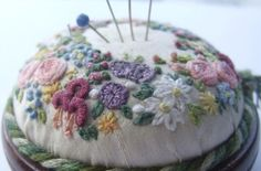 Miniature wreath pin cushion