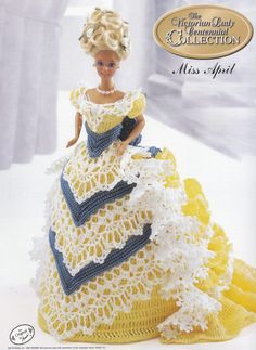 Miss April, Annie's 1993 Victorian Lady Centennial Crochet Doll Clothes Pattern Booklet