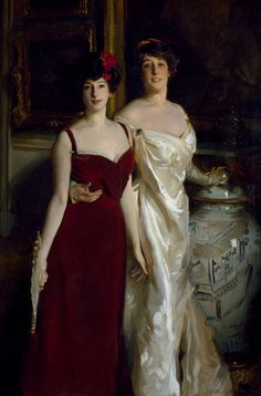 3-11-11  Ena and Betty, Daughters of Asher and Mrs Wertheimer 1901  by John Singer Sargent