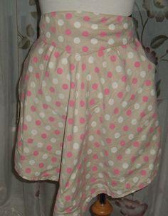 retro women's apron  polka dot apron  womens by NewtoUVintage, $7.99