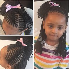 "60 Unbelievable cornrow styles for girls that'll make you ask ""But How""? Lil Girl Hairstyles, Black Kids Hairstyles, Natural Hairstyles For Kids, Kids Braided Hairstyles, My Hairstyle, Natural Hair Styles, Plats Hairstyles, Basic Hairstyles, Little Girl Braids"
