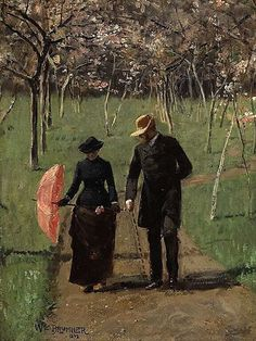 William Brymner, In the Orchard (Spring)