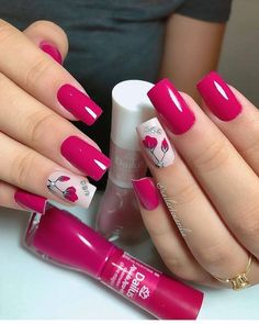 14 - The half-moon manicure is a nail art design that features two contrasting shades of polish, one Trendy Nail Art, Stylish Nails, Spring Nail Art, Spring Nails, Summer Nails, Gorgeous Nails, Pretty Nails, Instagram Nails, Nagel Gel