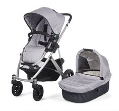 UPPAbaby Vista, the stroller you didn't realize you needed.  Also has an available car seat adapter which we used the crap out of!