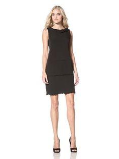 Marina Womens Sleeveless Crepe Dress (Black)