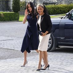 """Kensington Palace on Instagram: """"This evening Ms. Meghan Markle arrived at Cliveden House Hotel, accompanied by her mother Ms. Doria Ragland #RoyalWedding"""""""