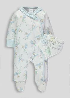 0679a32a0 Unisex Tinkerbell Sleepsuit  amp  Bib (Newborn-12mths) Baby Disney