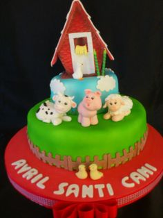 Farm cake Torta animales de la granja