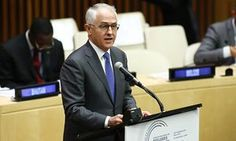 Australia's prime minister, Malcolm Turnbull, addressing the UN general assembly