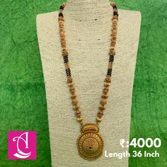 1 Gram Gold Jewellery, Gold Temple Jewellery, Gold Jewellery Design, Gold Mangalsutra Designs, Gold Earrings Designs, Necklace Designs, Gold Jewelry Simple, Black Beats, Gemstone