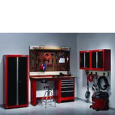 Craftsman-5-PC Heavy-duty Garage Storage Set - Red/Black