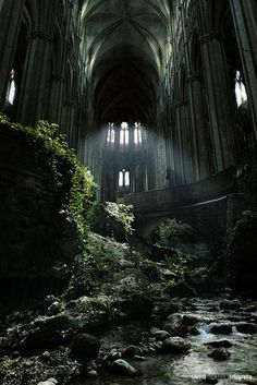 A famous spot in France, St Etienne abandoned church. I love abandoned buildings that nature has taken over. Abandoned Buildings, Abandoned Castles, Abandoned Mansions, Old Buildings, Abandoned Places In London, Amazing Buildings, Abandoned Malls, Abandoned Warehouse, Abandoned Ships