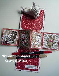 #SCRAPGRIBOUILLE#StampinUp #TwistCard #Christmas