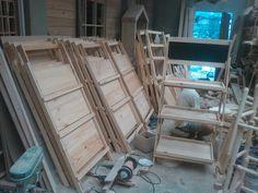 Folding wooden rack