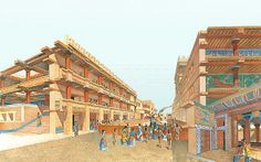Knossos Palace - The Minoan Civilization flourished on the Greek island of Crete, on the Aegean Sea, during the III and II millennia BC. It is named after King Minos, who was recorded in Greek tradition as a prehistoric king of Crete. Ancient Greek City, Ancient Greece, Ancient Egypt, Ancient Artifacts, Creta, Greek History, Ancient History, Asian History, European History