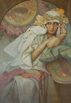 Alphonse Mucha (1860-1939), Múza - 1920