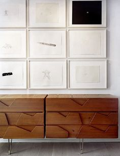 Art above a chest of drawer