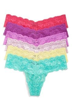 Cosabella 'Never Say Never Cutie' Low Rise Lace Thong (6-Pack) (Online Exclusive) ($120 Value) | Nordstrom