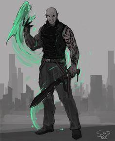 Shadowrun Adept by Halycon450 on DeviantArt