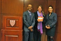 Co-authors Navi Radjou (left) and Dr. Simone Ahuja (right) visit Harvard Kennedy School to explore the role of jugaad in leadership and policy. Pictured here with Jane Nelson (center),  Adjunct Lecturer in Public Policy, and Director of HKS's Corporate Social Responsibility Initiative.