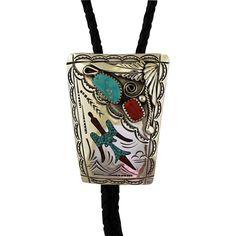 Vintage Navajo Silver Bolo Tie Jimmie Patterson