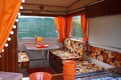 Esterel Folding Caravan interior. Caravan Home, Retro Caravan, Camper Caravan, Retro Campers, Diy Camper, Camper Trailers, Caravan Renovation Diy, Caravan Makeover, Trailer Interior