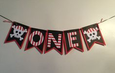 one banner high chair banner pirate birthday Pirate Theme, 1st Birthday Banners, Pirate Birthday, Pirate Party Decorations, First Birthday Pictures, High Chair Banner, One Design, Pattern Paper, Party