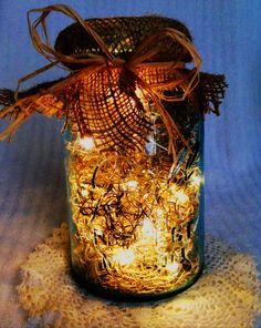 Vintage Mason Jar Firefly Lantern / Wedding Centerpiece / Night Light. $32.00, via Etsy. DIY Idea