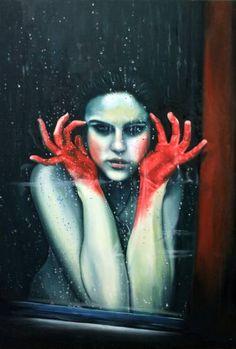 "Saatchi Art Artist Valeria Andreis; Painting, ""Dear Venom"" #art"