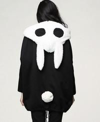 Black Comfy Size Animal Iconic Korean Style Hoodie