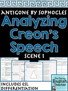 This text analysis activity will improve your students' understanding of Creon's monologue in Scene 1.