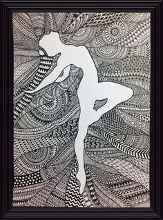 Ideas Design To Draw Easy Fashion Sketches Doodle Art Drawing, Dark Art Drawings, Zentangle Drawings, Mandala Drawing, Pencil Art Drawings, Art Drawings Sketches, Zentangles, Zantangle Art, Pen Art