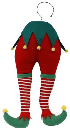 "22"" H Elf bottom #elf #Christmas #wreath #tree #enhancement #craigbachman"
