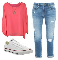 """""""Untitled #20"""" by l1217l ❤ liked on Polyvore featuring WearAll, Frame Denim and Converse"""