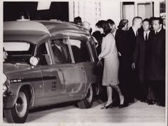 Mrs. Kennedy leaving Air Force 1 after arriving in Washington DC with JFK's body.