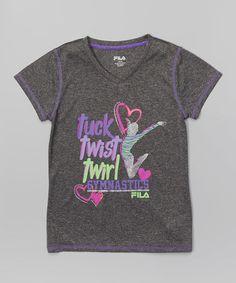 Another great find on #zulily! Heather Ash 'Tuck Twist Twirl' Tee by FILA #zulilyfinds