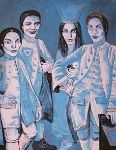 "Yury Ermolenko (Юрий Ермоленко), ""Alice and servants"" (""ALICE NEW!"" project), 2005, acrylic on canvas, 170x130 cm. #YuryErmolenko #юрийермоленко #ЮрийЕрмоленко #живопись #yuryermolenko #acrylic #picture #painting #art #fineart #contemporaryart #modernart #inspiration #amazing #sexy #wonderland #hot #colorful #texture #RapanStudio #exhibition #psychedelic #metaphysics #cовременноеискусство #mystery #картина #artwork #выставка #alice #fairytale #dream #sensual #fantasy #AliceInWonderland #new…"