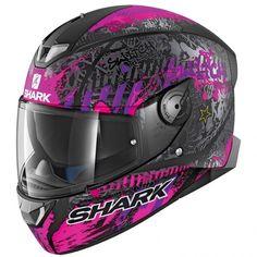 Negro Shark casco Moto ridill Blank BLK talla S
