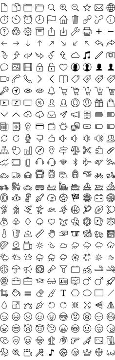 Free iOS 7 icons in vector